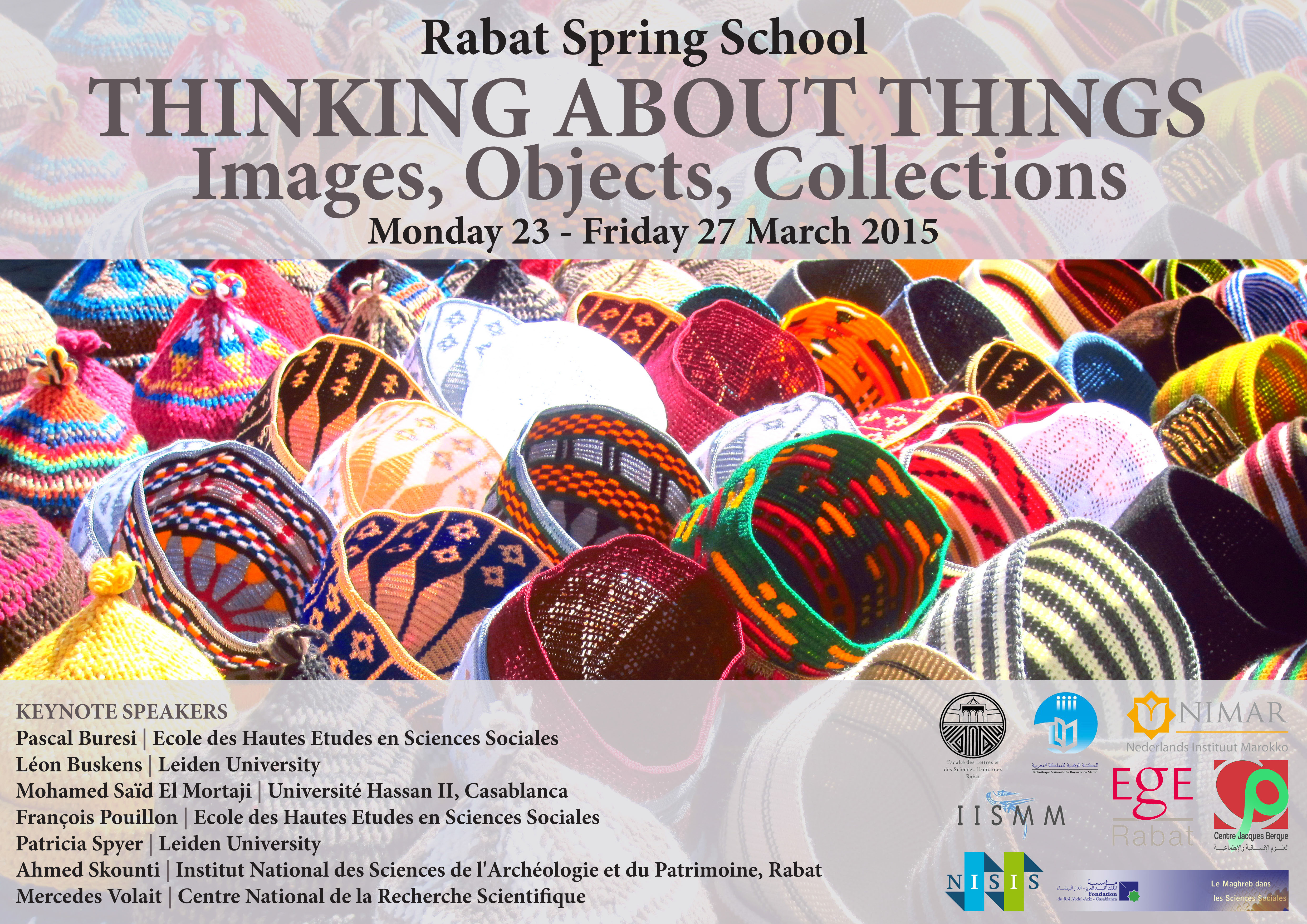 2015 : Thinking about things : Images, objects, collections (Rabat, Maroc)