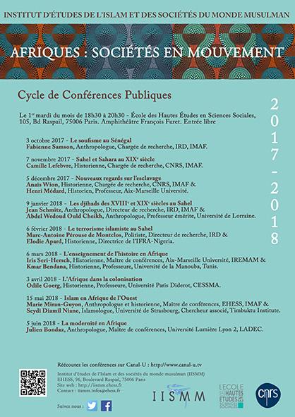 Cycle 2017-2018 : Afriques : sociétés en mouvement